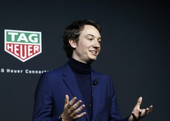 NEW YORK, NEW YORK - MARCH 12: Frederic Arnault, Chief Strategy & Digital Officer TAG Heuer speaks onstage during The Launch of The New Connected Watch by TAG Heuer at The Caldwell Factory on March 12, 2020 in New York City. (Photo by Brian Ach/Getty Images for TAG Heuer )